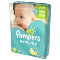 Pampers Baby Dry Diapers Mega Pack Size 2
