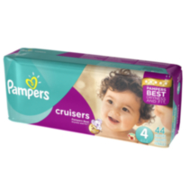 Pampers Couches Cruisers format Méga Taille 4