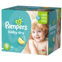 Pampers Couches Baby Dry format Super Taille 6