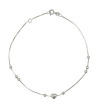 Silver Sterling Anklet w/balls