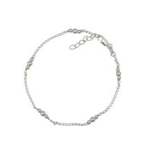 Silver Sterling Bead Anklet