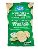 Great Value Sour Cream & Onion Flavoured Potato Chips