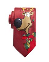 George Men's Reindeer Lights Tie