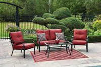 hometrends Montclair 4 Piece Conversation Set - Red