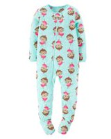 Child of Mine made by Carter's Infant Girl's Monkey Printed Blanket Fleece Pyjama 6-9M