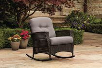 hometrends Tuscany Wicker Rocking Chair Grey