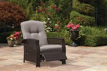 hometrends Tuscany Wicker Recliner Grey