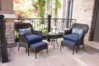 hometrends Tuscany 5-Piece Chat Set Blue