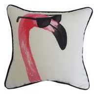 hometrends Flamingo Outdoor/Indoor Toss Cushion