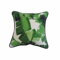 hometrends Green Leaf Outdoor/Indoor Toss Cushion