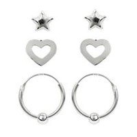 Sterling Silver Earring Trio