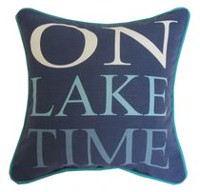 "hometrends ""On Lake Time"" Outdoor/Indoor Toss Cushion"