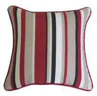 hometrends Red Dahlia Multi Stripe Outdoor/Indoor Toss Cushion