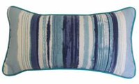 hometrends Aqua Sea Multi Stripe Outdoor/Indoor Toss Cushion