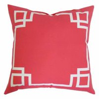 hometrends Black Outdoor/Indoor Toss Cushion Raspberry