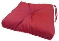 hometrends Dahalia Red Seat Cushion