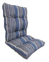 hometrends Grey Stripe Reversible High Back Cushion