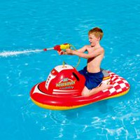 Motomarine gonflable Wave Attack à chevaucher de Splash & Play, 140 cm
