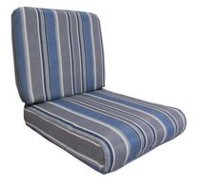 hometrends Grey Stripe Reversible Deep Seat Cushion