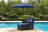 hometrends Tuscany Lounge Chair Blue