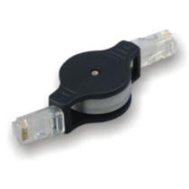 Electronic Master 3-FT Retractable RJ11 Cable