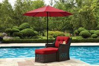 hometrends Chaise 3 Pièces Toscane Rouge