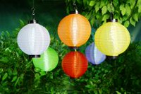 hometrends Battery-Operated LED Multi-Coloured Fabric Lantern with Timer