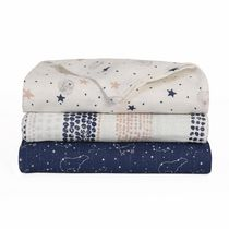 Baby's First by Nemcor 3 Pack Cotton Muslin Swaddle Receiving Blankets, Starry Night