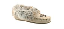 Canadiana Ladies' Mocassin Style Slipper Taupe 10