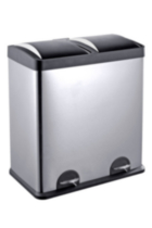 The Point Gallery Step N' Sort 60 Litre 2-Compartment Trash and Recycling Bin