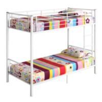 Twin over Twin Bunk Bed - White