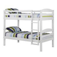 Twin Solid Wood Bunk Bed - White