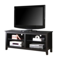 "58"" Black Wood TV Stand"