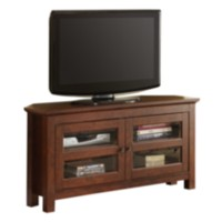 Brown Wood Corner TV Stand