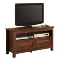 Brown Wood TV Stand with Double Doors