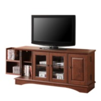 "52"" Brown Wood TV Stand with Storage"
