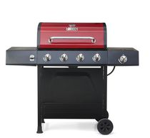 Backyard Grill 4-Burner Propane Gas Grill with Side Burner