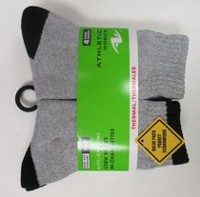 Athletic Works Boys' 4-Pair Thermal Crew Socks