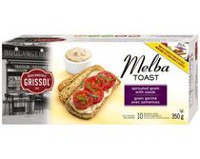 Dare Foods Boulangerie Grissol Sprouted Grain with Seeds Melba Toast