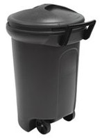 United Comb & Novelty Wheeled Turn and Lock Trash Can