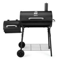 "Backyard Grill 30"" Charcoal Barrel Grill with Side Smoker"