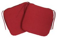 Mainstays Beige 2 Pack Seat Cushions Red