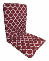 Mainstays Beige Geo High Back Cushion Red Geo