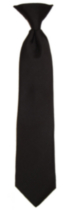 Boys Rediknot Clip-on Tie Black