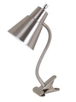 Brushed Steel Clip Lamp