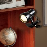 Mini Wall-Mountable Clip Lamp, Black