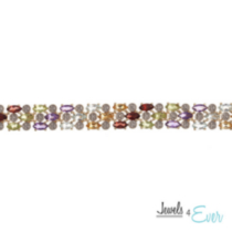 Silver Gold Plated Semi-precious Gemstone Bracelet