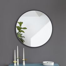 Umbra Hub Decorative  Round Wall Mirror,Black