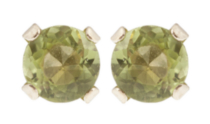 10kt Yellow Gold 3 mm genuine peridot stud Earrings