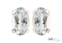 Boucles d'oreilles en or 10 ct de aigue-marine